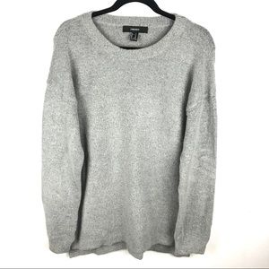Forever 21 M Gray Long Sleeve Sweater